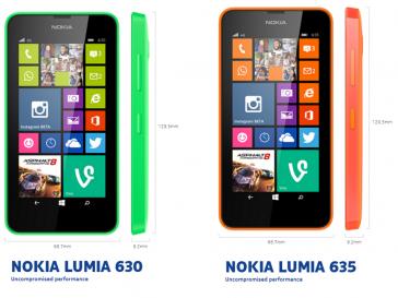 Nokia Lumia 630 Nokia Lumia 635