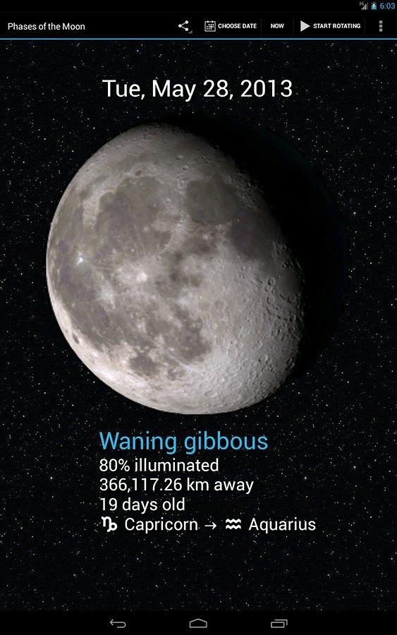 Fasi della luna widget