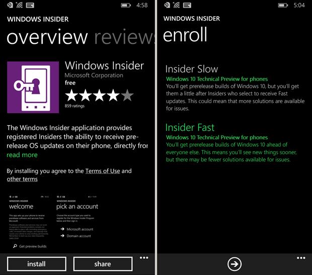 windows insider enjoyphone