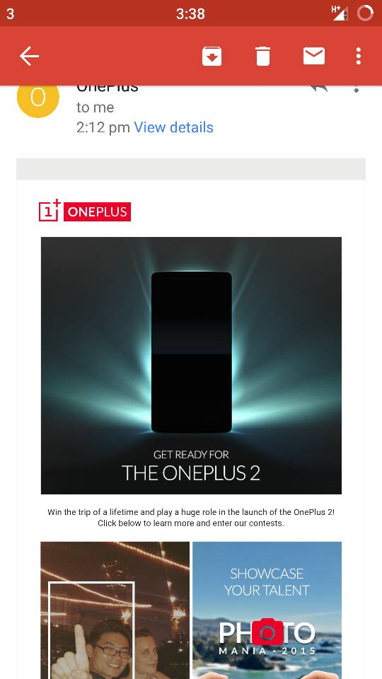 Contest One Plus 2