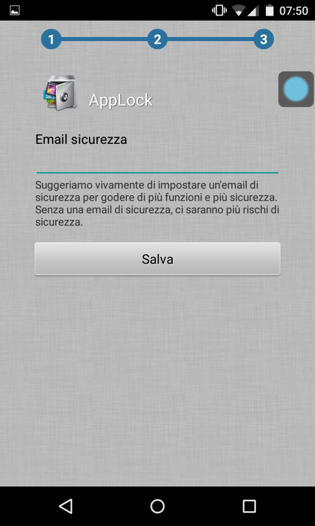 AppLock email sicurezza
