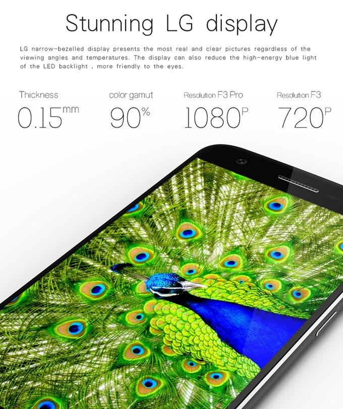 Doogee F3 Pro display