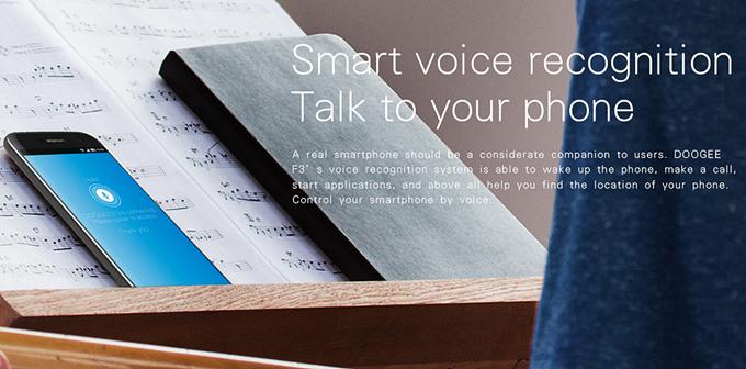 Doogee F3 Pro voice control