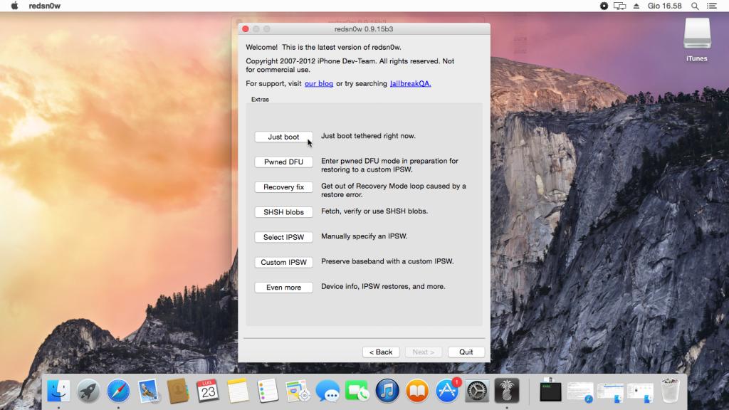 Downgrade senza SHSH Mac (4)