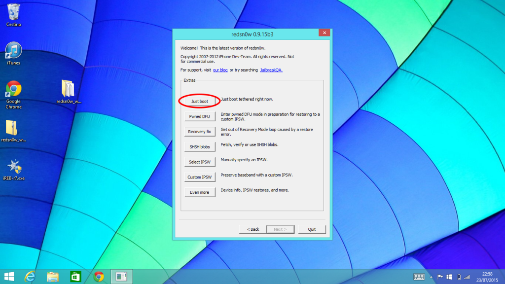 Downgrade senza SHSH Windows (5)