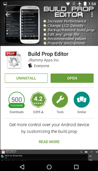 Build prop editor Playstore