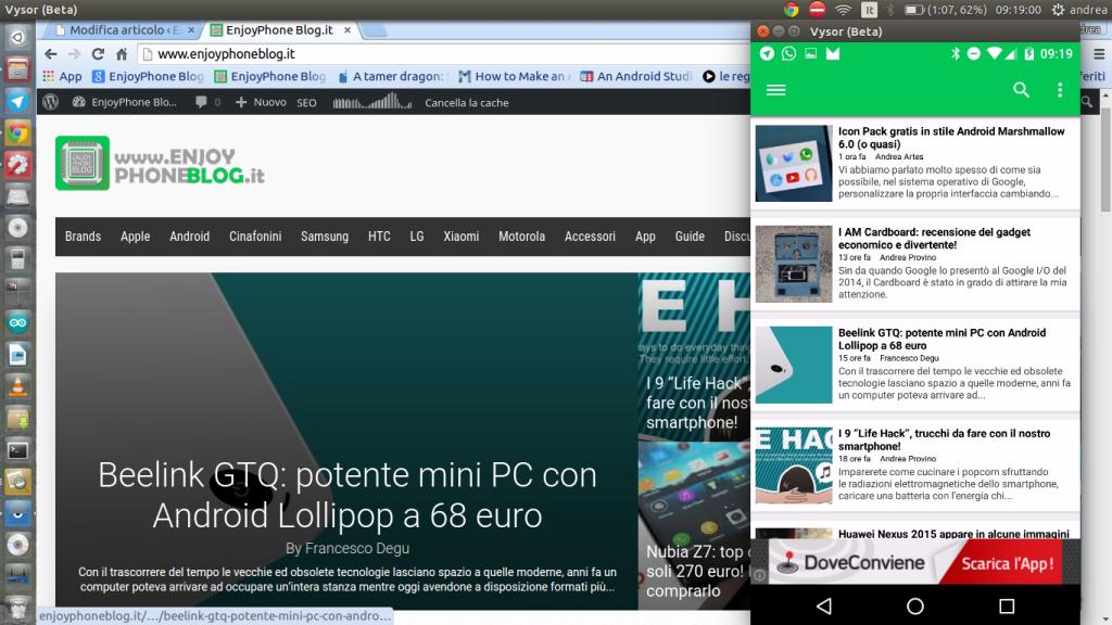 Vysor Beta: mirroring USB dello smartphone su PC attraverso Chrome [guida]