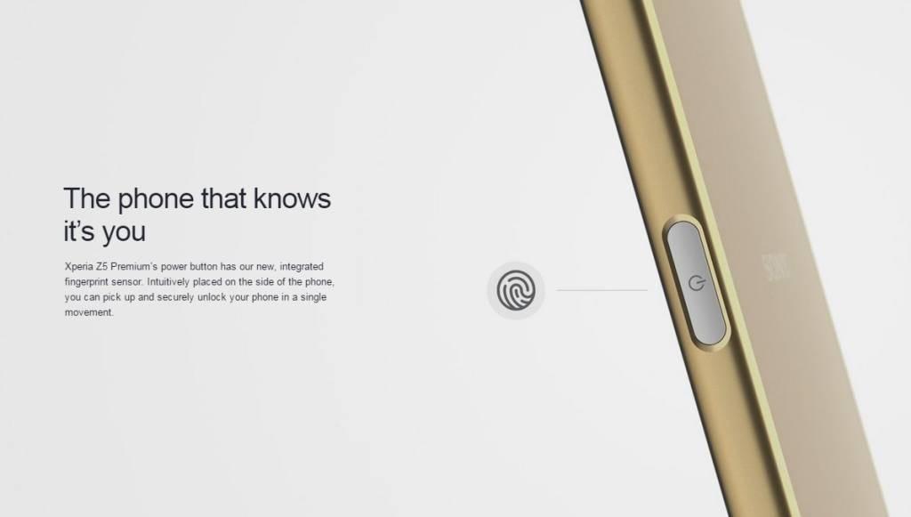 Sensore impronte Sony z5 premium