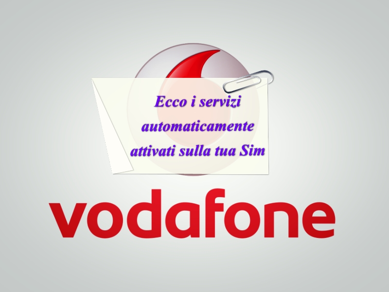 Vodafone Servizi attivi
