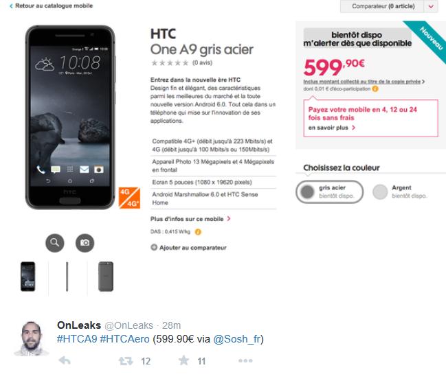 HTC A9 prezzo online