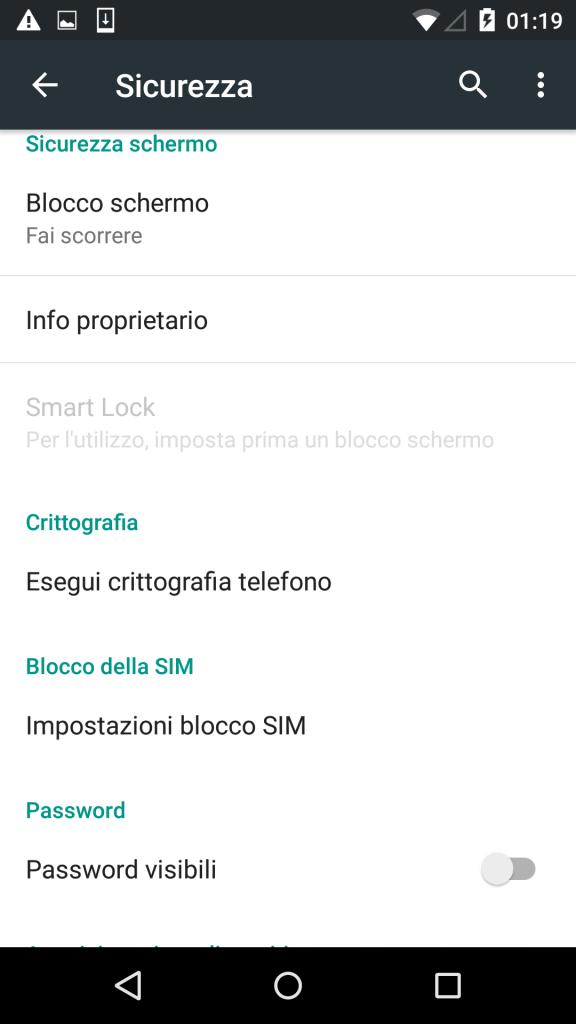Impostazioni Android Screenshot 6