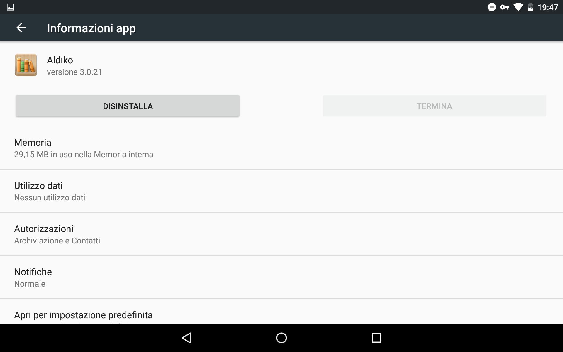 Disintallare applicazione android