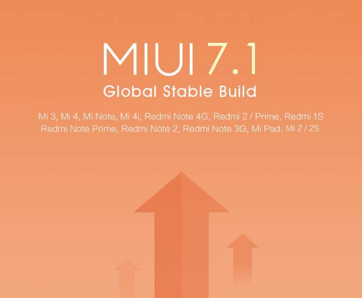 Miui 7.1 aggiornamento update