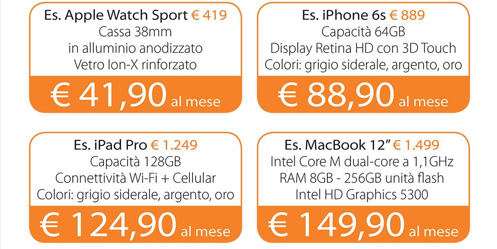 Tasso Zero prodotti Apple finanziamento
