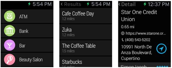 Find Me Near Apple Watch screenshot