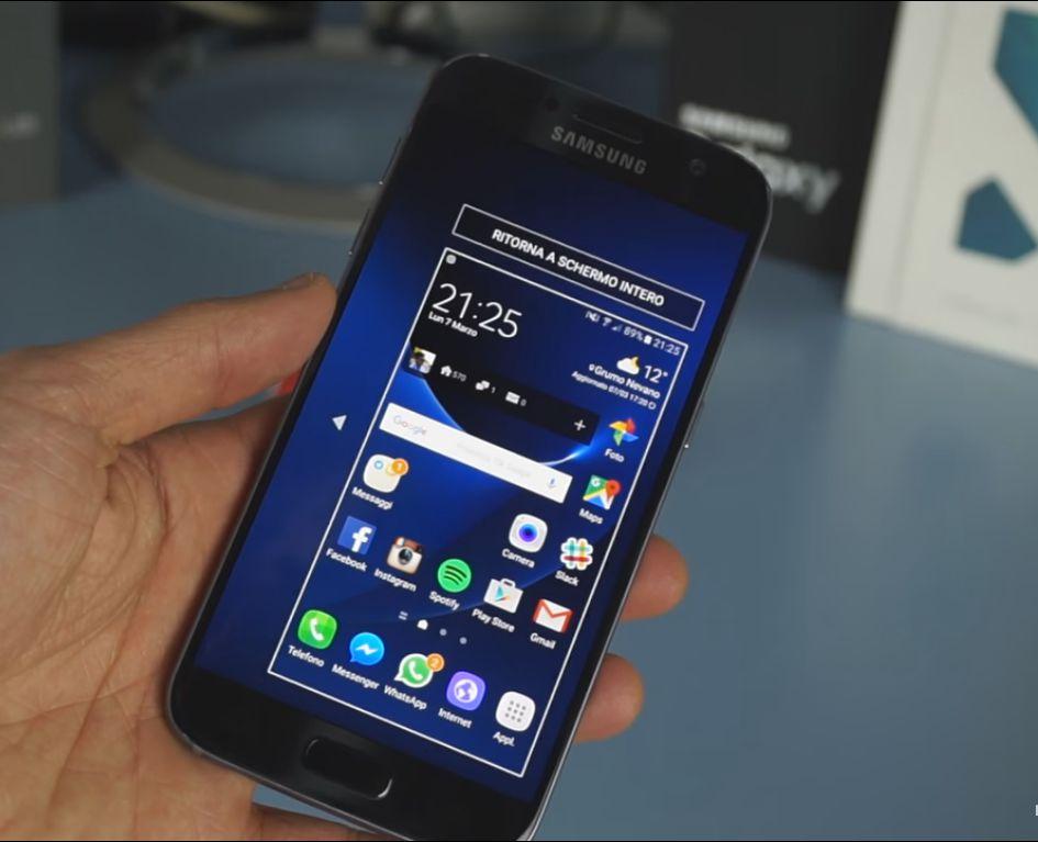 Galaxy S7 modalità mano singola