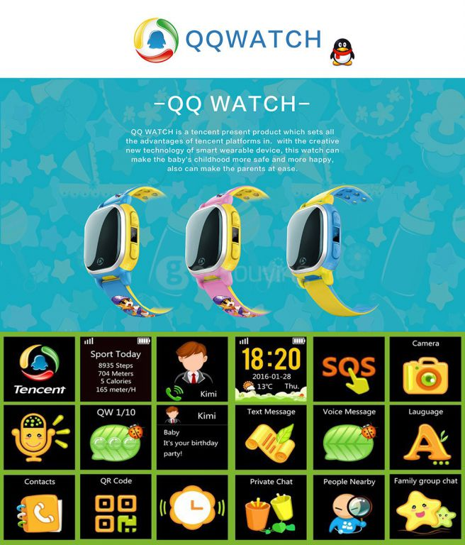 Smartwatch Tencenet QQ features