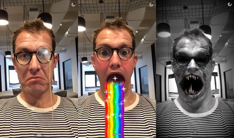 Lenses di Snapchat App