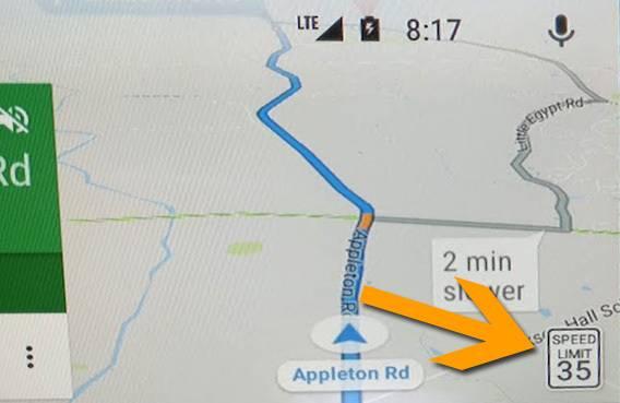 Google Maps limiti di velocità