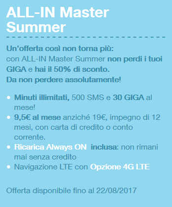 3 Italia ALL-IN Master Summer Edition