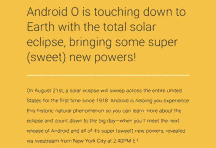 Android Oreo sarà svelato e rilasciato il 21 agosto