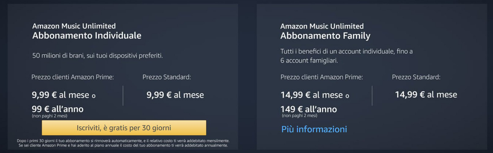 Amazon Music Unlimited Italia
